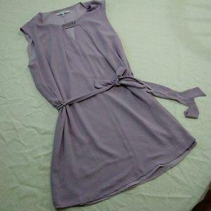 Lilac silky shift dress